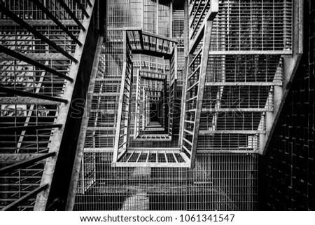 Metal Stairs Outside, Access Detail, Emergency Exit #1061341547