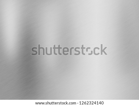 Metal steel texture background or stainless brushed aluminum abstract