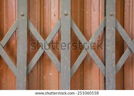 Metal store door