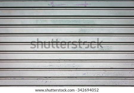 Metal store door,old steel door.