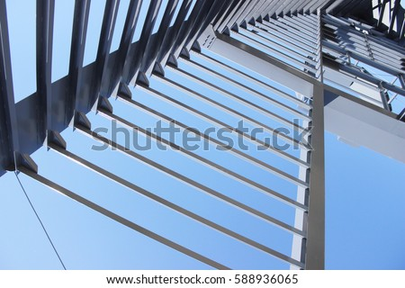 Metal Structure Beams #588936065