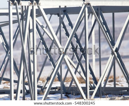 metal structure in the snow in the winter - Shutterstock ID 548300245