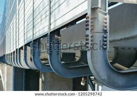 metal structures on the bridge #1205298742