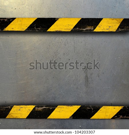 Metal Template With Belt Warning