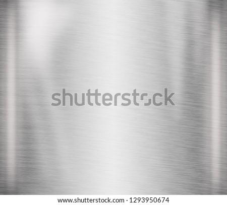 metal texture background aluminum brushed silver - Illustration #1293950674
