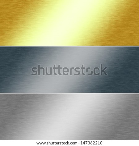 Metal Texture Background In Gold Silver And Chrome Colors