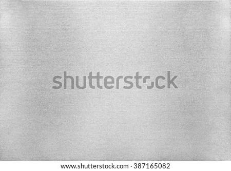 Metal texture background. Macro photo of brushed aluminium. #387165082