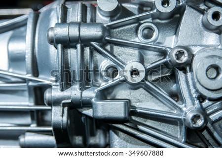 Metal texture transmission stock photo