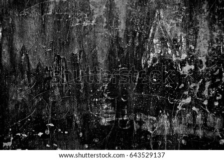 Metal texture with scratches and cracks. Image includes a effect the black and white tones. #643529137