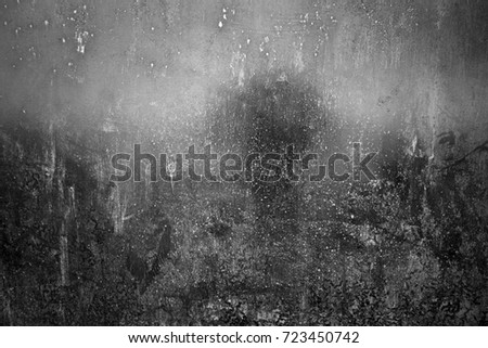 Metal texture with scratches and cracks. Image includes a effect the black and white tones. #723450742