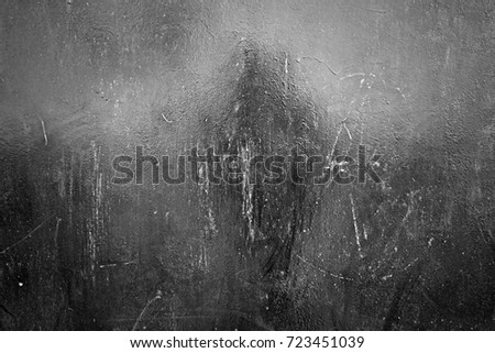 Metal texture with scratches and cracks. Image includes a effect the black and white tones. #723451039