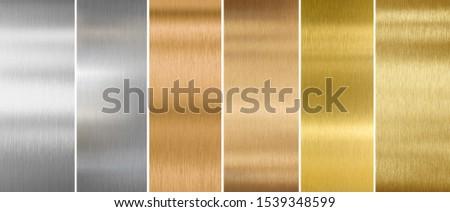 metal textures or backgrounds set Foto d'archivio ©