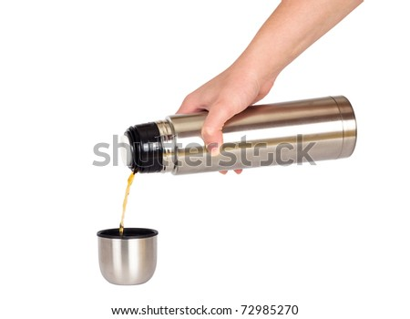 metal thermos with handle