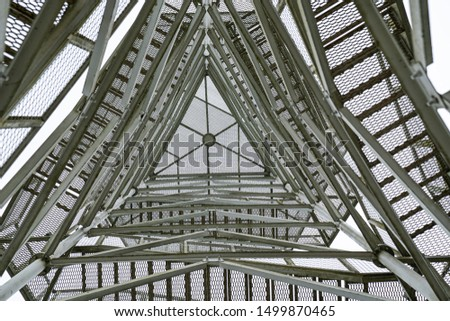 Metal truss structure, industrial, structure