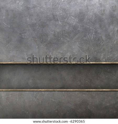 metal wall - stock photo