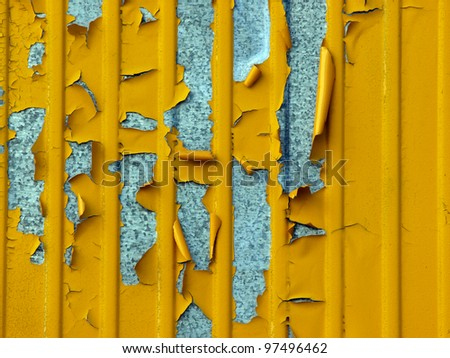 metal wall with old paint