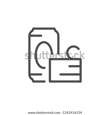 Metal waste line icon isolated on white