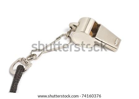 Metal whistle - stock photo