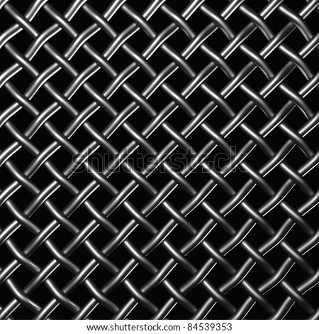 Metal wire mesh isolated on the black background