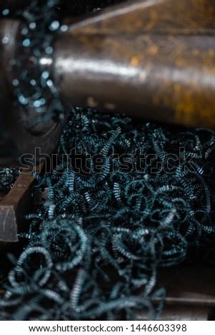 metal work and metal shavings