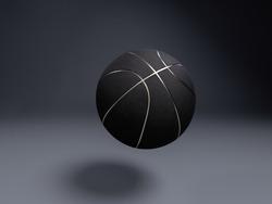 Metalic Basketball close-up on studio background