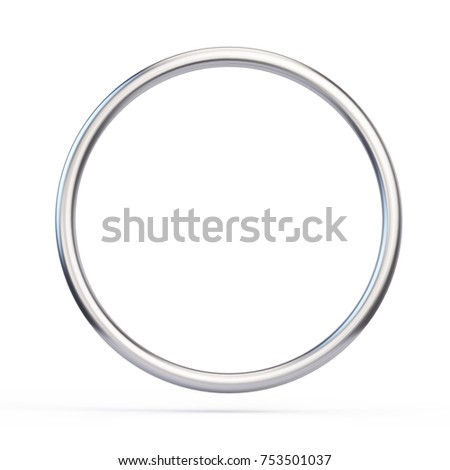 Metall ring isolated on white background - 3d illustration