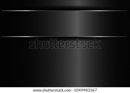 Metallic background polished steel texture, vector design , abstract metallic frame design innovation concept layout background, eps10. #1049983367