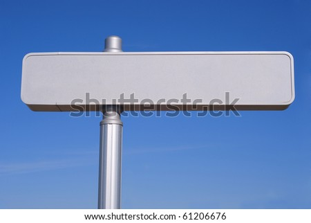 Metallic blanked signpost. Copy space for your own text