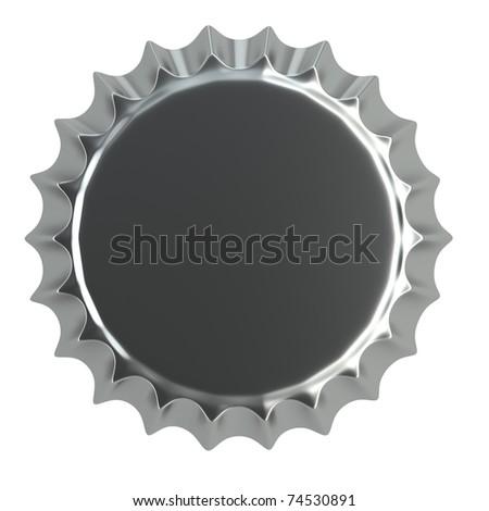 metallic bottle cap 3d illustration  isolated on white