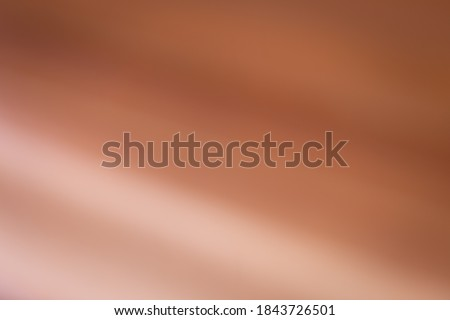 Metallic copper background image. (oblique gradient) The light reflected on the foil. Foto stock ©