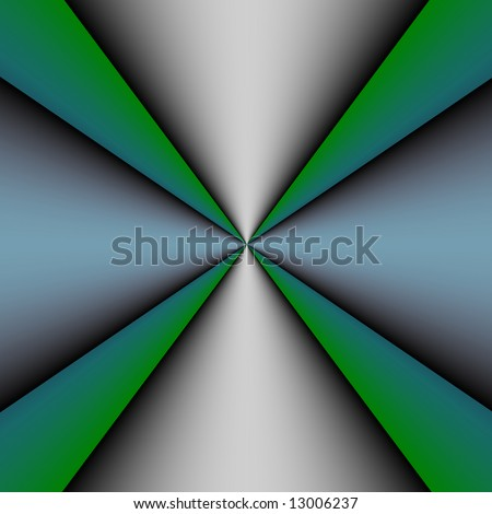 Metallic Cross On A Green And Light Blue Background Stock ...