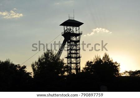 Shutterstock Metallic derrick of the old coal mines, Puertollano, city of the province of Ciudad Real in Castilla la Mancha, Spain