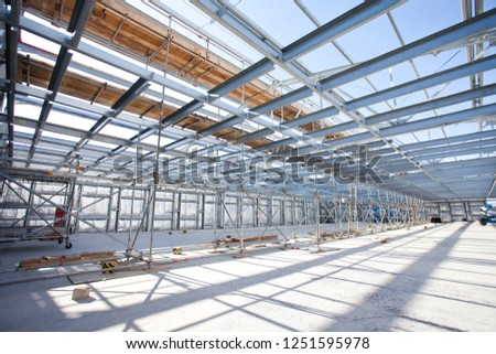 Metallic framework construction