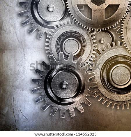 metallic gears background