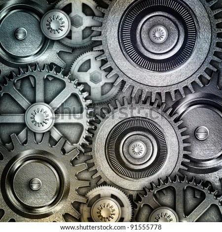 metallic gears background