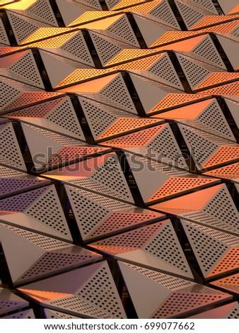 metallic geometric cladding or...