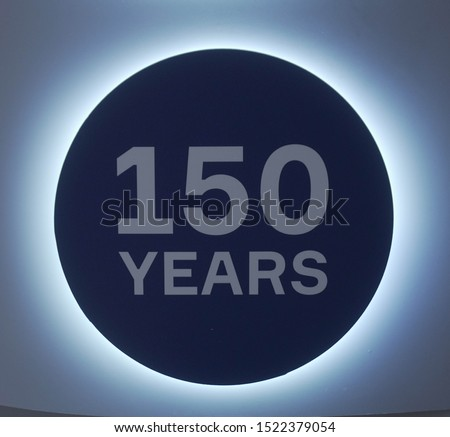 metallic glossy icon 150 years