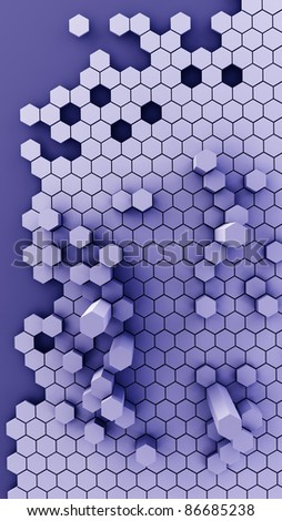 metallic honeycomb abstract structure background 3d illustration. high resolution