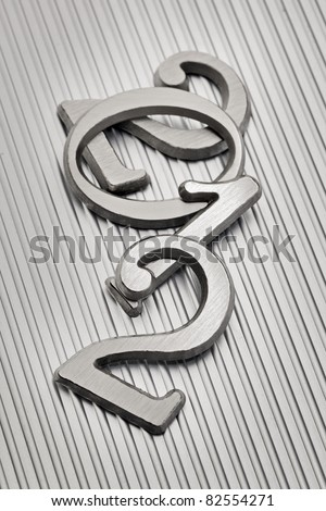"""Metallic letters that can be used for number """"2012"""" on metallic background. - stock photo"""