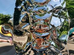 Metallic liquid reflection background texture