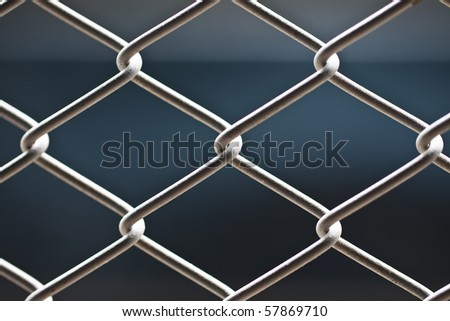 metallic net with black background