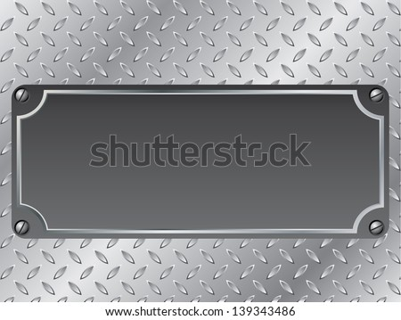 Metallic plate background design with text container