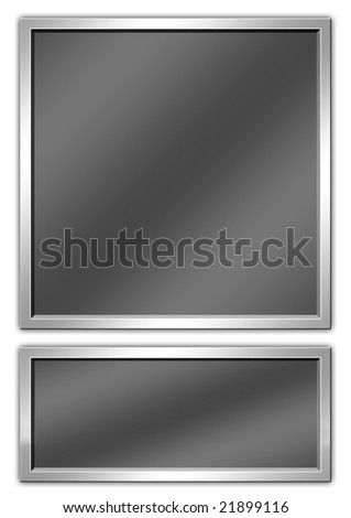 Metallic plate with copyspace