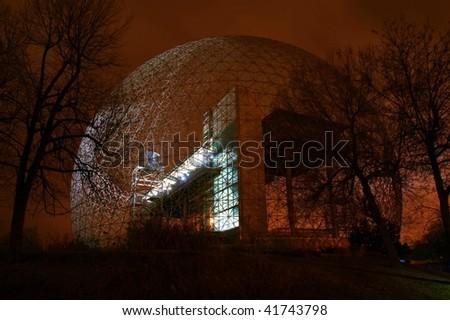 Metallic Structure at Night