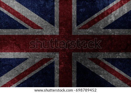 Metallic UKflag #698789452