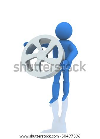 Metallic wheel