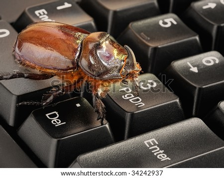 stock photo : Metaphor about problems in the world of computers, software,