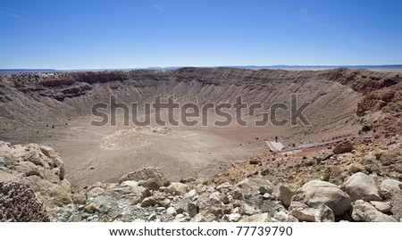 meteor impact crater Winslow Arizona USA
