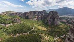 Meteora abbey landscape