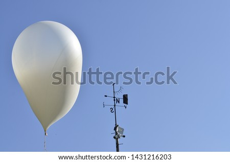 meteorological balloon at the meteorological station for testing #1431216203
